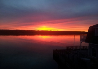 Spectacular Sunsets as experienced on our Licensed Waterfront Patio